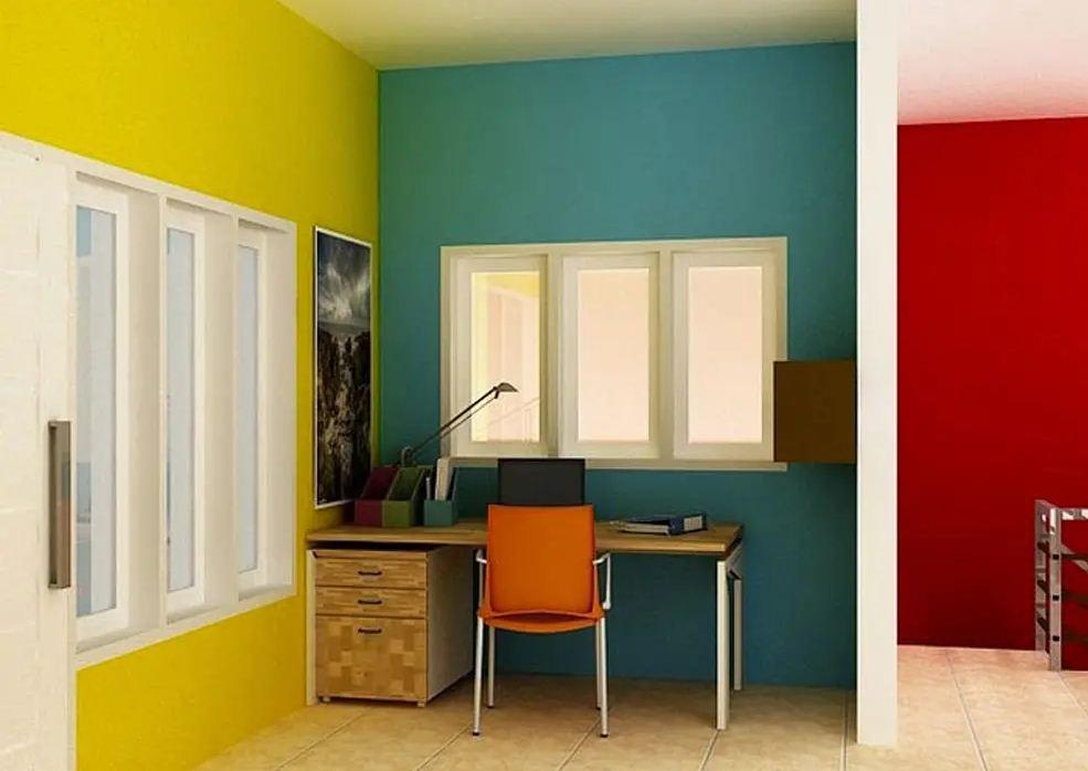 phối màu sơn nhà tương phản (1)