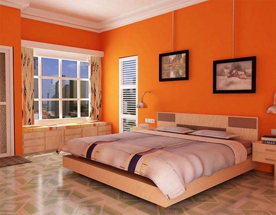 Bạn sẽ dễ dàng chìm sâu vào giấc ngủ với sắc cam ấm