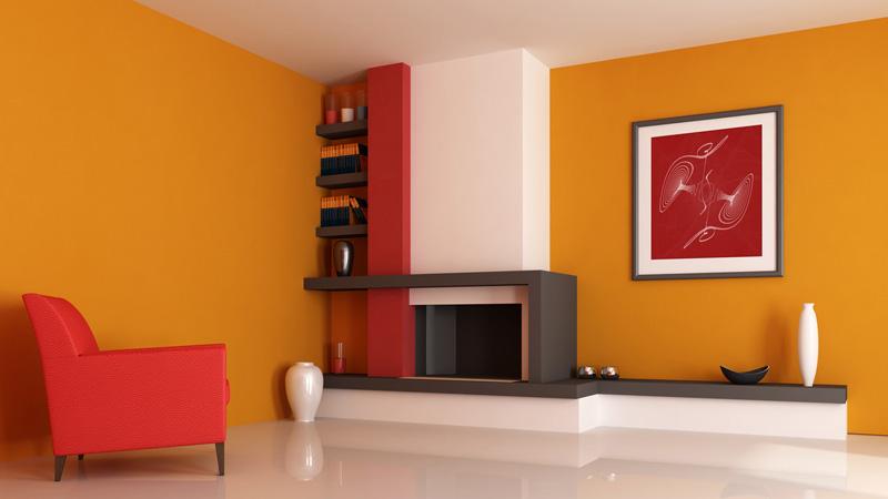 Sự kết hợp màu tinh tế với sự phối hợp của sắc cam với sắc đỏ và trắng vô cùng ăn ý