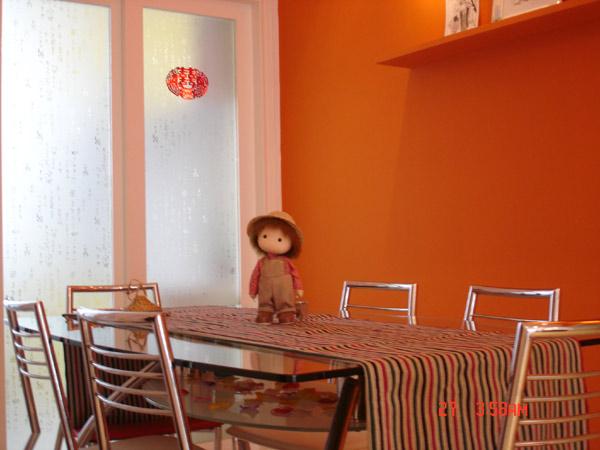 Mẫu sơn nhà màu cam số 2