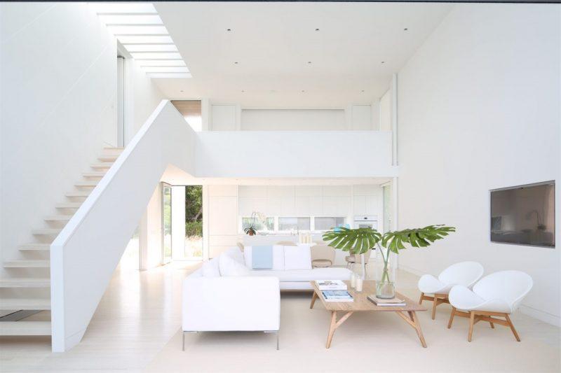 Sơn nhà màu trắng sứ cho những không gian có ánh sáng yếu